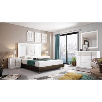 Imagen de Dormitorio Mod.: 858 - BLANCO SP1-POZZOLANA - Moon
