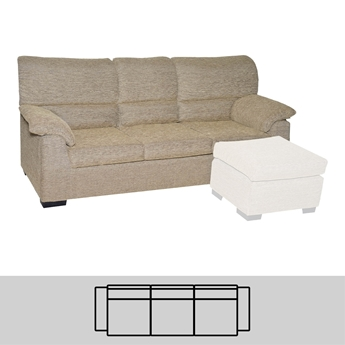 Imagen de Sofá 3 Plazas (3 Asientos) 175 - Mod. VALEY