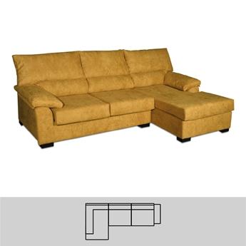 Imagen de Chaise 3 Plazas (2 Asientos + Chaise) 200 Reversible - Mod. VILLA